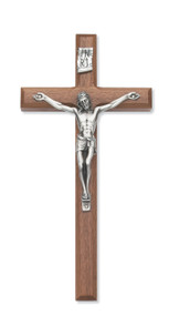 "10"" BEVELED WALNUT CRUCIFIX 80-04"