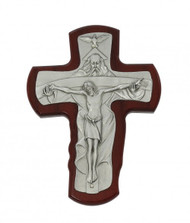 "TRINITY CHERRY STAINED 5-1/2"" CRUCIFIX 80-140"