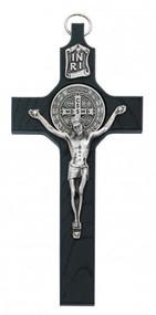 """ST. BENEDICT BLACK 6-1/4"""" CRUCIFIX 80-143"""