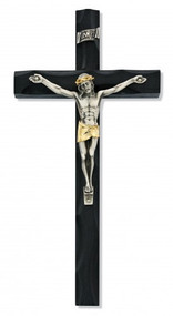 "BLACK FINE WOOD CRUCIFIX 10"" 81-45"