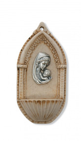 ITALIAN MOTHER & CHILD HOLY WATER FONT 120-89