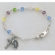 BABY BRACELET TIN CUT MULTI 4MM BR123D