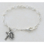 BABY BRACELET TIN CUT CRYSTAL 4MM BR126