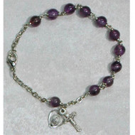 FINE QUALITY GENUINE AMETHYST ADULT BRACELET 6MM BR183D