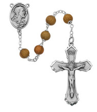 OLIVE WOOD ROSARY 7MM 126DF