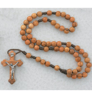 OVAL OLIVE WOOD IMPORTED CORDED ROSARY 7MM 148R