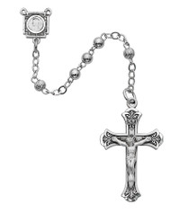 STERLING SILVER ROSARY 4MM 1-4LF
