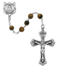 TIGER EYE ROSARY 6MM 169LF