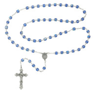BLUE CAPPED ROSARY 7MM 701S-BLF