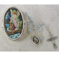 GUARDIAN ANGEL KEEPSAKE BOXED BABY ROSARY 760-16