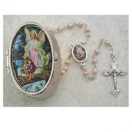 GUARDIAN ANGEL KEEPSAKE BOXED BABY ROSARY 760-24