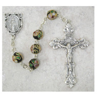 REAL CLOISONNE ROSARY 7MM 767SF
