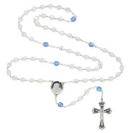 BLUE & CRYSTAL AURORA ROSARY 7MM 775RF