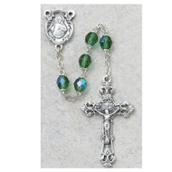 AUGUST BIRTHSTONE IMPORTED ROSARY 6MM 875-PEG