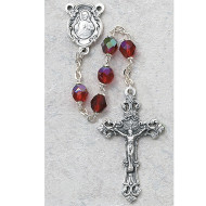 JULY BIRTHSTONE IMPORTED ROSARY 6MM 875-RUG