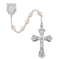 APRIL BIRTHSTONE IMPORTED ROSARY 6MM 880-CR/KF