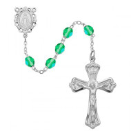 AUGUST BIRTHSTONE IMPORTED ROSARY 6MM 880-PE/KF