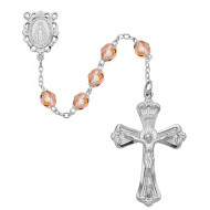 OCTOBER BIRTHSTONE IMPORTED ROSARY 6MM 880-RS/KF