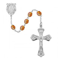NOVEMBER BIRTHSTONE IMPORTED ROSARY 6MM 880-TO/KF