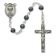 FIRST COMMUNION PEWTER ROSARY C74DB