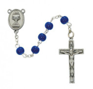 FIRST COMMUNION PEWTER ROSARY C75DB