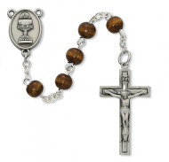 FIRST COMMUNION PEWTER ROSARY C76DB