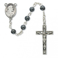 FIRST COMMUNION PEWTER ROSARY C88DB