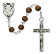 FIRST COMMUNION PEWTER ROSARY C89DB