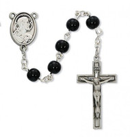 FIRST COMMUNION PEWTER ROSARY C90DB