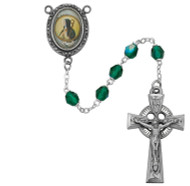 GREEN ROSARY 6MM R186DF
