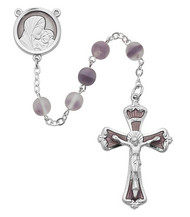 FROSTED AMETHYST ROSARY 7MM R250RF