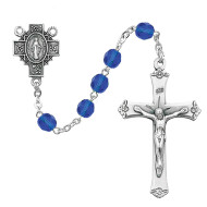SEPTEMBER BIRTHSTONE IMPORTED ROSARY 6MM R488-BLG