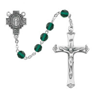 MAY BIRTHSTONE IMPORTED ROSARY 6MM R488-EMG