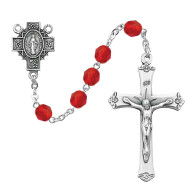 JULY BIRTHSTONE IMPORTED ROSARY 6MM R488-RUG