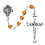 NOVEMBER BIRTHSTONE IMPORTED ROSARY 6MM R488-TOG