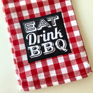 Eat, Drink, BBQ Dishtowel