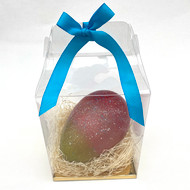 NEW! Extra Large Hand-Painted Egg, Dark Chocolate