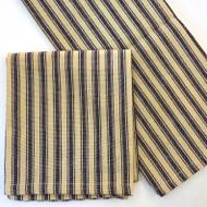 Linen Wide Striped Tea Towel