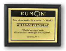 Math Plaque (French)