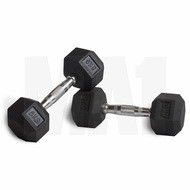 MA1 Rubber Hex Dumbbells - 25lbs (Pair)
