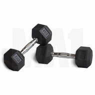 MA1 Rubber Hex Dumbbells - 70lbs (Pair)