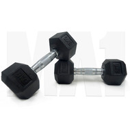 MA1 Rubber Hex Dumbbells - 80lbs  (Pair)