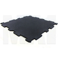MA1 Premium Interlock Rubber Tile - 60cm x 60cm x 10mm, Black with Blue Speck