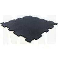 MA1 Premium Interlock Rubber Tile - 60cm x 60cm x 10mm, Black with Blue Speck