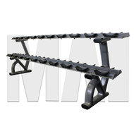 MA1 Elite, Pro Style Dumbbell, Rack 2 tier 10 pair saddle rack