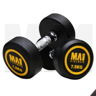 MA1 Commercial Rubber Dumbbells - 7.5kg (Pairs)