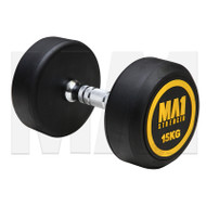 MA1 Commercial Rubber Dumbbells - 15kg (Pairs)