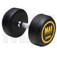 MA1 Commercial Rubber Dumbbells - 20kg (Pairs)