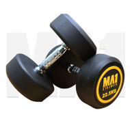MA1 Commercial Rubber Dumbbells - 22.5kg (Pairs)