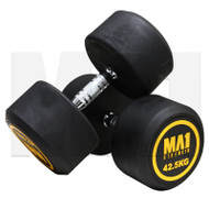 MA1 Commercial Rubber Dumbbells - 42.5kg (Pairs)